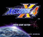 Mega Man X4 title screenshot