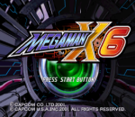 Mega Man X6 title screenshot