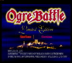 Ogre Battle - Limited Edition title screenshot