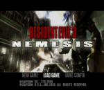 Resident Evil 3 - Nemesis title screenshot