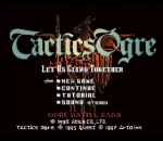 Tactics Ogre - Let Us Cling Together title screenshot