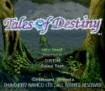 Tales of Destiny title screenshot