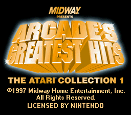 Play Arcade's Greatest Hits - The Atari Collection 1 - Nintendo Super